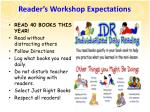 reader s workshop expectations