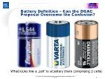 battery definition can the dgac proposal overcome the confusion2