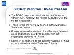battery definition dgac proposal
