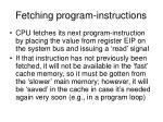 fetching program instructions
