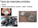 tipos de materiales emitidos