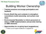 building worker ownership
