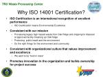 why iso 14001 certification