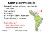 energy sector investment