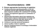 recommendations 20002