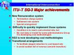 itu t sg 3 major achievements