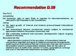 recommendation d 50