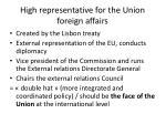 high representative for the union foreign affairs
