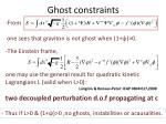 ghost constraints