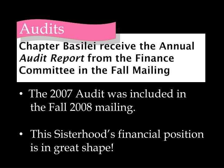 Chapter Basilei receive the Annual