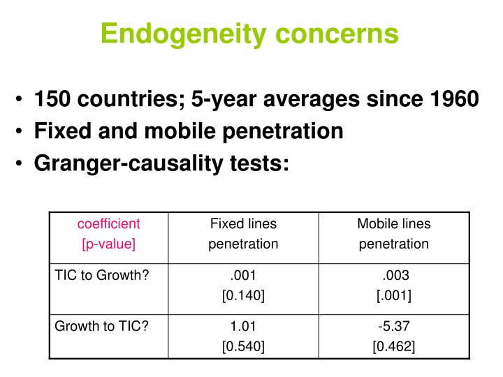 Endogeneity concerns
