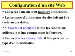 configuration d un site web25