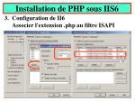 installation de php sous iis65