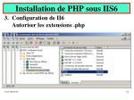 installation de php sous iis66