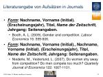 literaturangabe von aufs tzen in journals