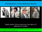 introduction crime television drama