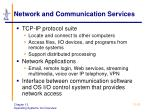 network and communication services