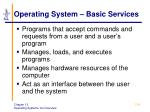 operating system basic services