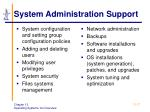 system administration support
