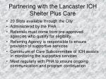 partnering with the lancaster ich shelter plus care
