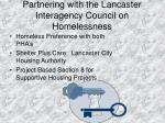 partnering with the lancaster interagency council on homelessness