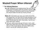 wasted prayer when uttered5