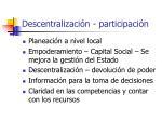 descentralizaci n participaci n