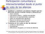 participaci n comunitaria e intersectorialidad desde el punto de vista de las alianzas1