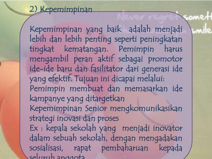 2) Kepemimpinan