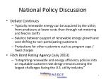 national policy discussion