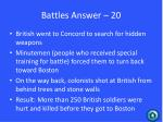 battles answer 20