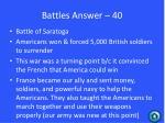 battles answer 40