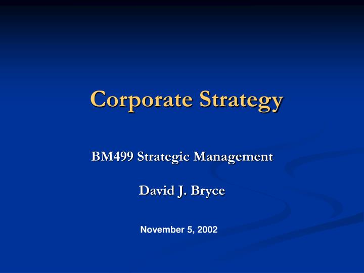 corporate strategy n.