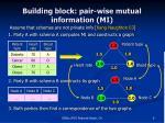 building block pair wise mutual information mi