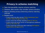 privacy in schema matching