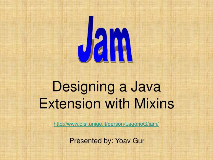 designing a java extension with mixins n.