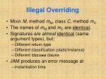 illegal overriding