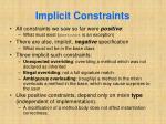 implicit constraints