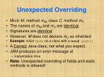 unexpected overriding