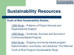 sustainability resources