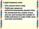logic common sense