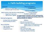 2 faith building programs2