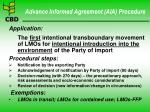 advance informed agreement aia procedure