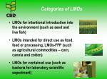 categories of lmos