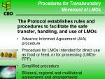 procedures for transboundary movement of lmos