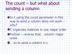 the count but what about sending a column