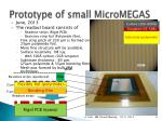 prototype of small micromegas