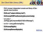zen client side library zml