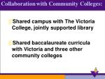 collaboration with community colleges