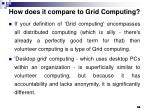 how does it compare to grid computing